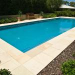 Simple but beautiful rectangular pool.